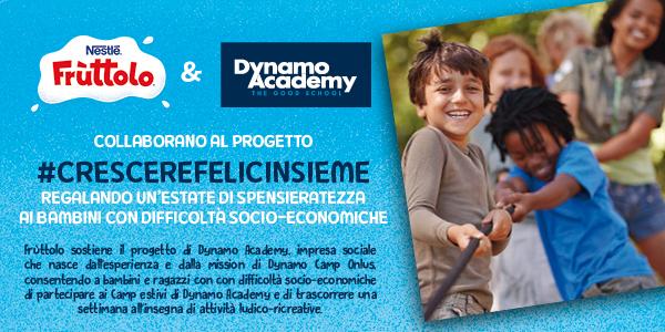 Fruttolo e Dynamo Academy insieme a favore dell'inclusione sociale